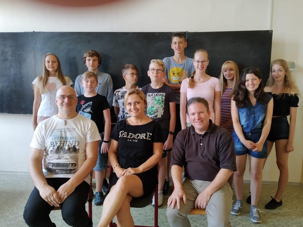 Účastníci letní školy AJ
